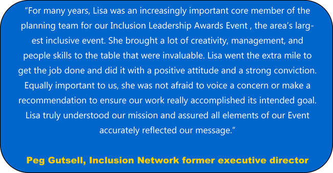 Quote about Lisa Desatnik from Peg Gutsell