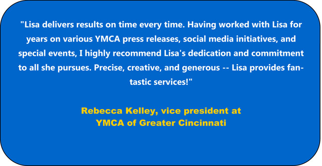 recommendation of Lisa Desatnik by Rebecca Kelley