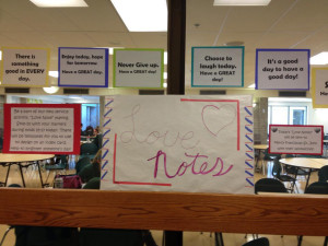 Students at Cincinnati's Ursuline Academy made love notes