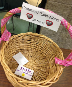 Students at Cincinnati's Ursuline Academy created love note project