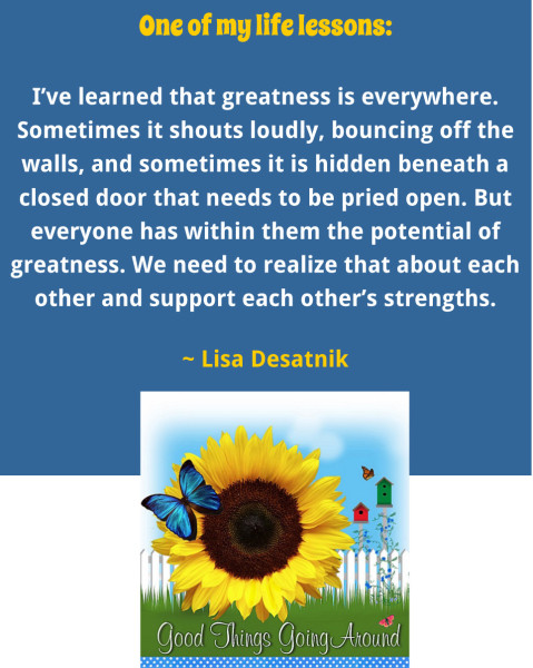 quote about greatness from Lisa Desatnik