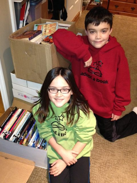 Loveland twins - Hannah & Alex Laman of Adopt a Book