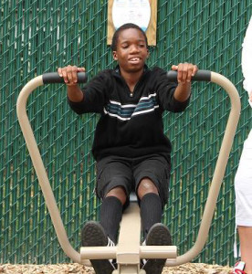 fitness equipment at Children's Home of Cincinnati