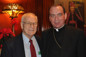 Cincinnati volunteer Pete Bushelman and Archbishop Dennis Schnurr