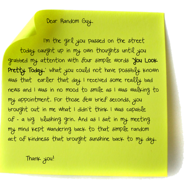 random act of kindness note