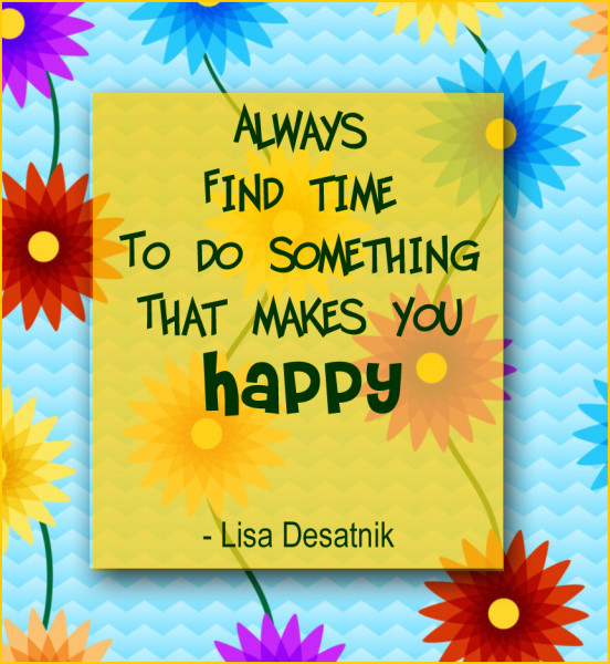 quote about happiness by Lisa Desatnik