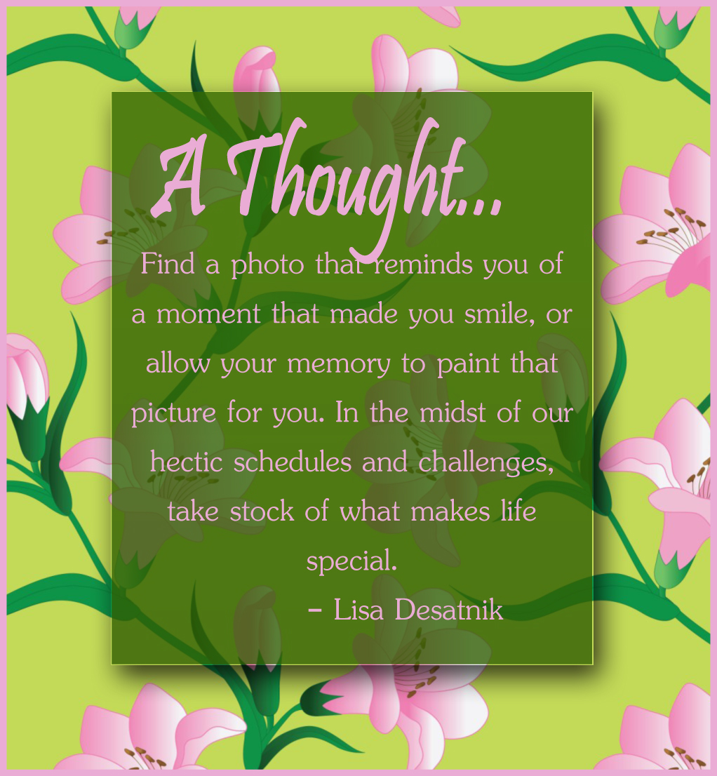 inspiration quote by Lisa Desatnik