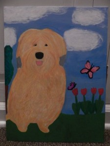 dog painting at Mayo Clinic