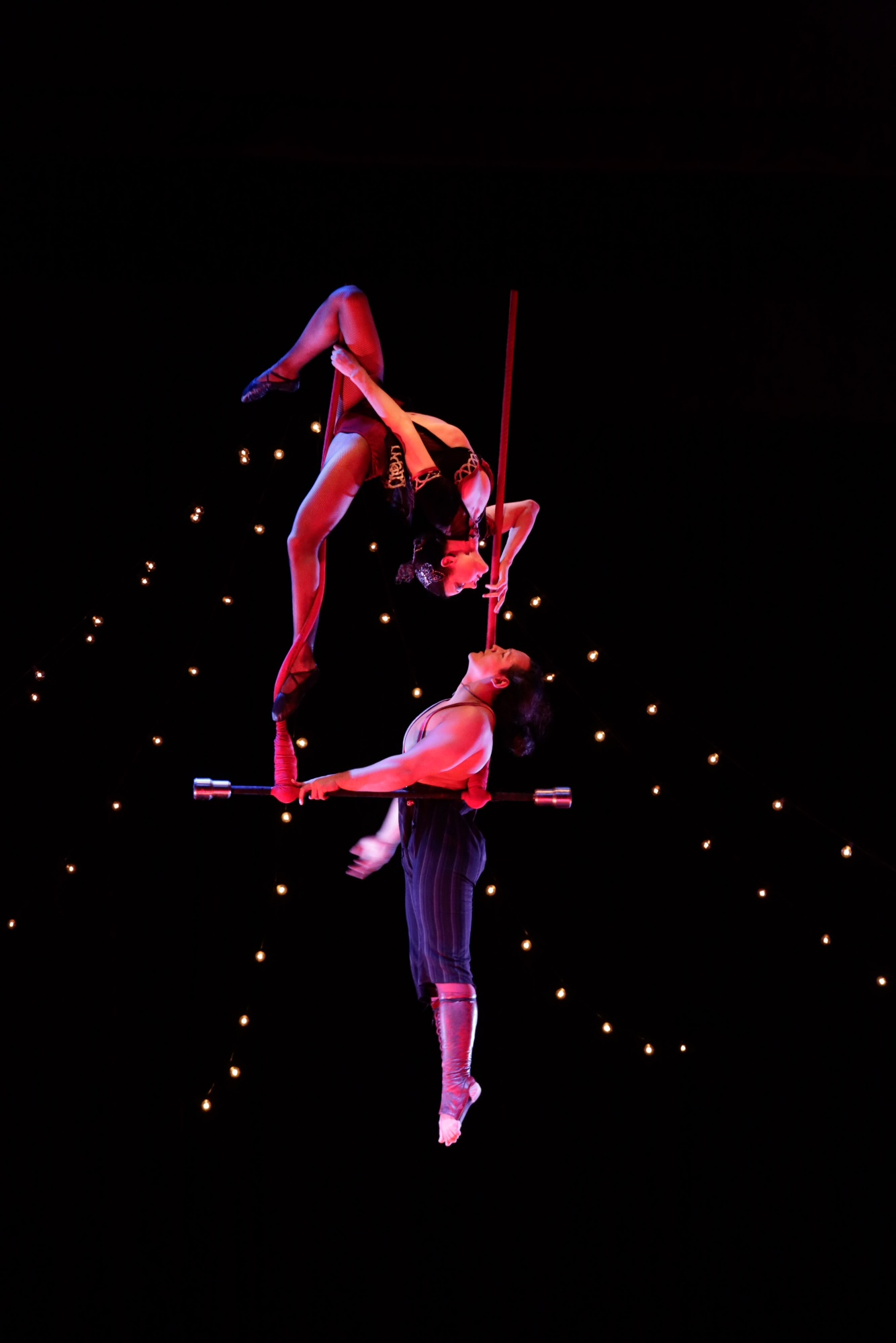 Trapeze artists Duo Rose will be performing at Circus Mojo