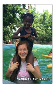 Wyoming High School graduate Cambray Smith visited children in a Haiti orphanage