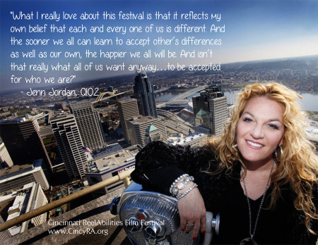 quote from Q102's Jenn Jordan about the Cincinnati ReelAbilities Film Festival