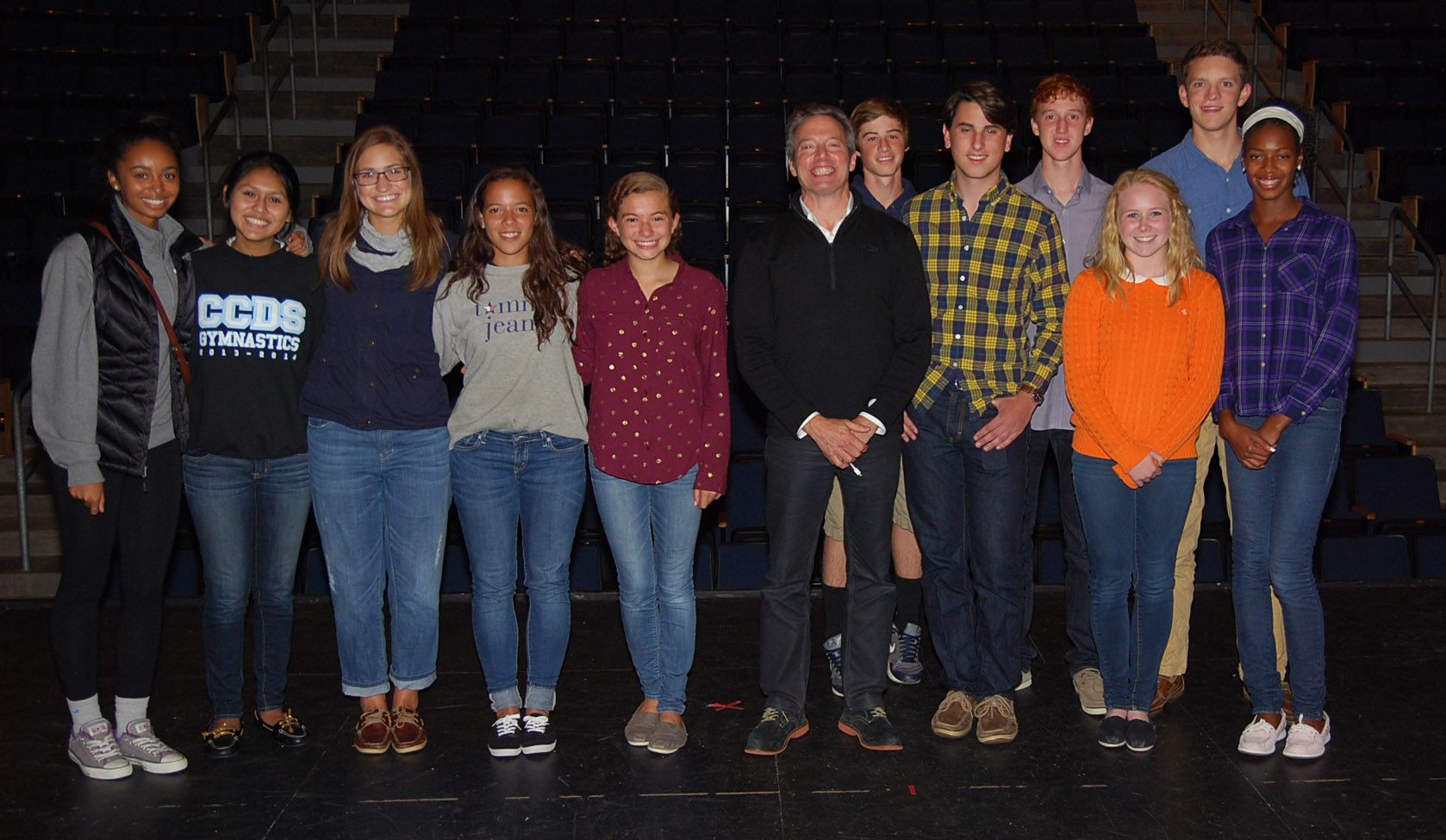 Rick Guidotti with students from Cincinnati Country Day School