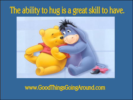The ability to hug is a great skill