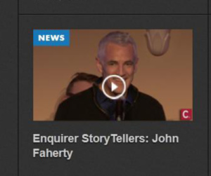 John Faherty at Cincinnati Enquirer Event, #CincyStorytellers