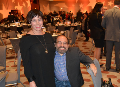 Danny Woodburn and Amy Buchwald at Cincinnati ReelAbilities Film Festival
