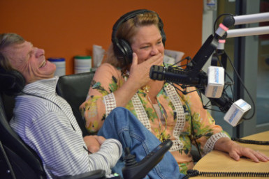 Steve and Elizabeth Wampler at Cincinnati Children's Hospital Medical Center Seacrest Studios