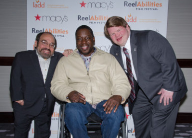 Actors Danny Woodburn, Daryl 'Chill' Mitchell, and Cincinnati Reds' Ted Kremer