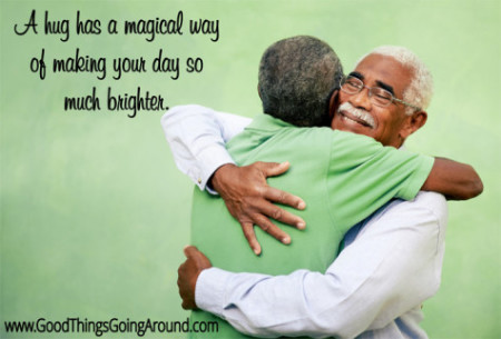 a quote about hugs