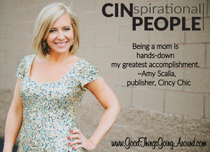Amy Scalia - publisher of Cincy Chic