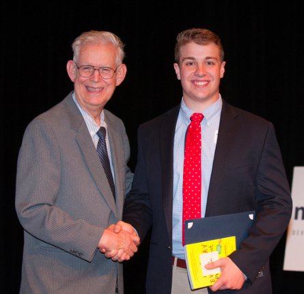 Cincinnati student Alex Deters receives Roger Grein Philanthropy Award from Magnified Giving