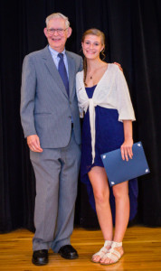 Becca Faeth received the Roger Grein Philanthropy Award from Magnified Giving