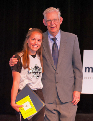Cincinnati student Katie Perry received the Roger Grein Philanthropy Award from Magnified Giving