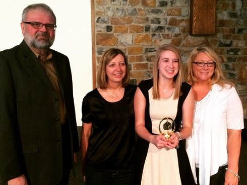 Cooper High School student Sarah Goodrich was recognized with the Scholastic Writing Award