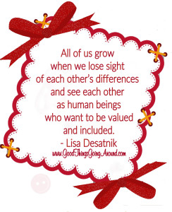 a quote about inclusion and differences by Lisa Desatnik