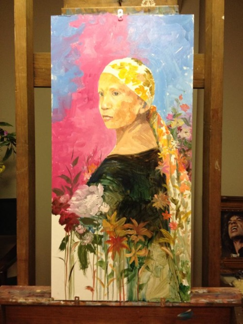 Cincinnati artist Magno Relojo painted this of his wife, a breast cancer survivor
