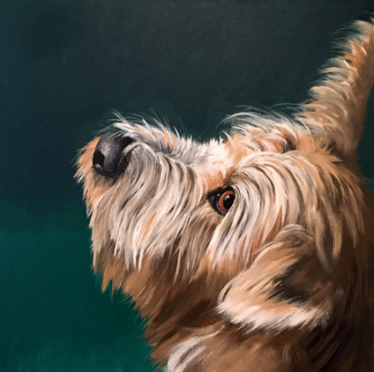 dog portrait by Cincinnati dog artist Mara McCalmont