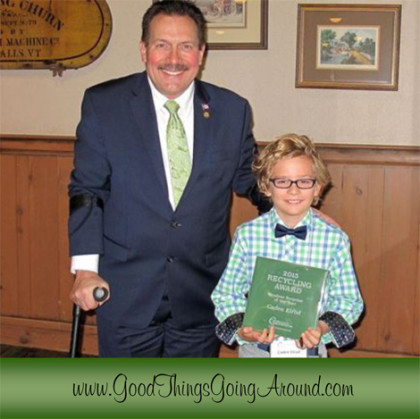 Caden Elrod with Hamilton County Commissioner Todd Portune