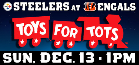 Cincinnati Bengals Toys For Tots Collection