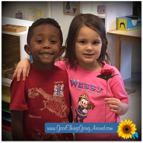 Kennedy Heights Montessori Center teaches children conflict resolution, acceptance and understanding with the Peace Rose