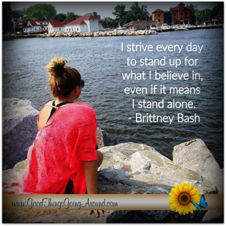 Cincinnati Country Day School student Brittany Bash writes about courage, confidence and candor