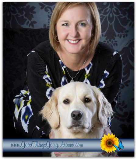 Kelly Camm, development director for 4 Paws for Ability, says her dog inspires her to slow down and appreciate life