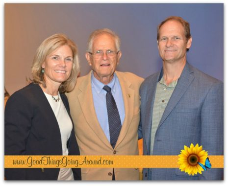 Jenny Berg with her father, Donald L. Neyer, and brother Dan Neyer at the Greater Cincinnati Planned Giving Council Voices of Giving Awards