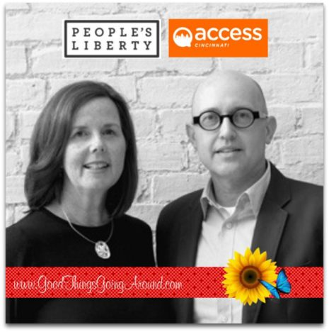 Kathleen Cail and Nestor Kathleen and Nestor received a grant from People's Liberty for their project, called Access Cincinnati. The goal is to create an online resource providing accessibility information on restaurants and bars in the downtown Cincinnati and Over the Rhine areas to families with strollers, veterans, seniors, and individuals with mobility issues.