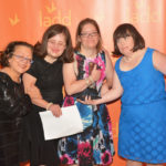 Jennifer Crowe (third from left) was honored by Cincinnati nonprofit LADD