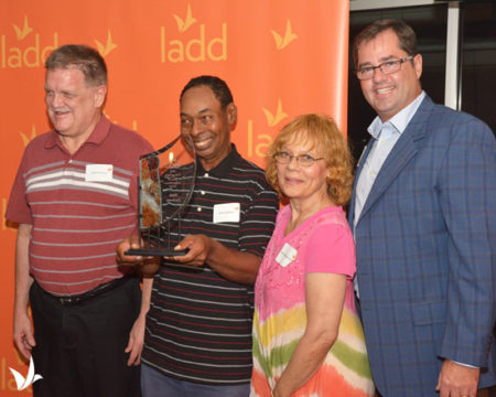 Dale Jackson was honored by Cincinnati nonprofit LADD
