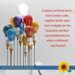 quote about work performance and leadership by Lisa Desatnik