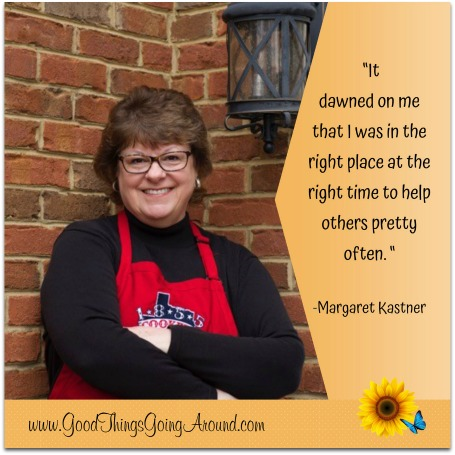 Margaret Kastner of Cincinnati learned a lesson of kindness at dinner