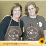 Led by Suzanne Deyoung of La Soupe and Julie Riney Richardson, Indian Hill High school students prepared over 5,000 quarts of soup made from rescued food.
