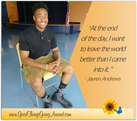 Northern Kentucky University student Jayren Andrews is a leader and role model.