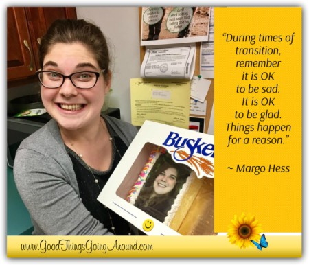 Margo Hess shared these words of wisdom at our Toast of the Town Toastmasters Club in Cincinnati about transitions