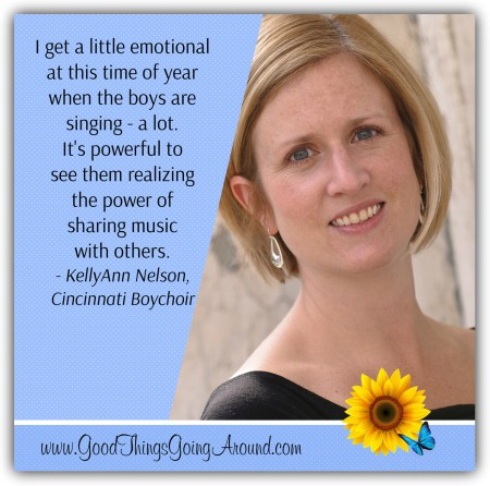 KellyAnn Nelson shares how her work with the Cincinnati Boychoir inspires her