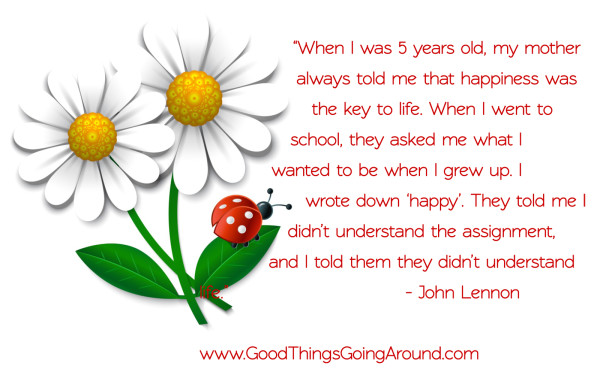 Happiness Quote By John Lennon